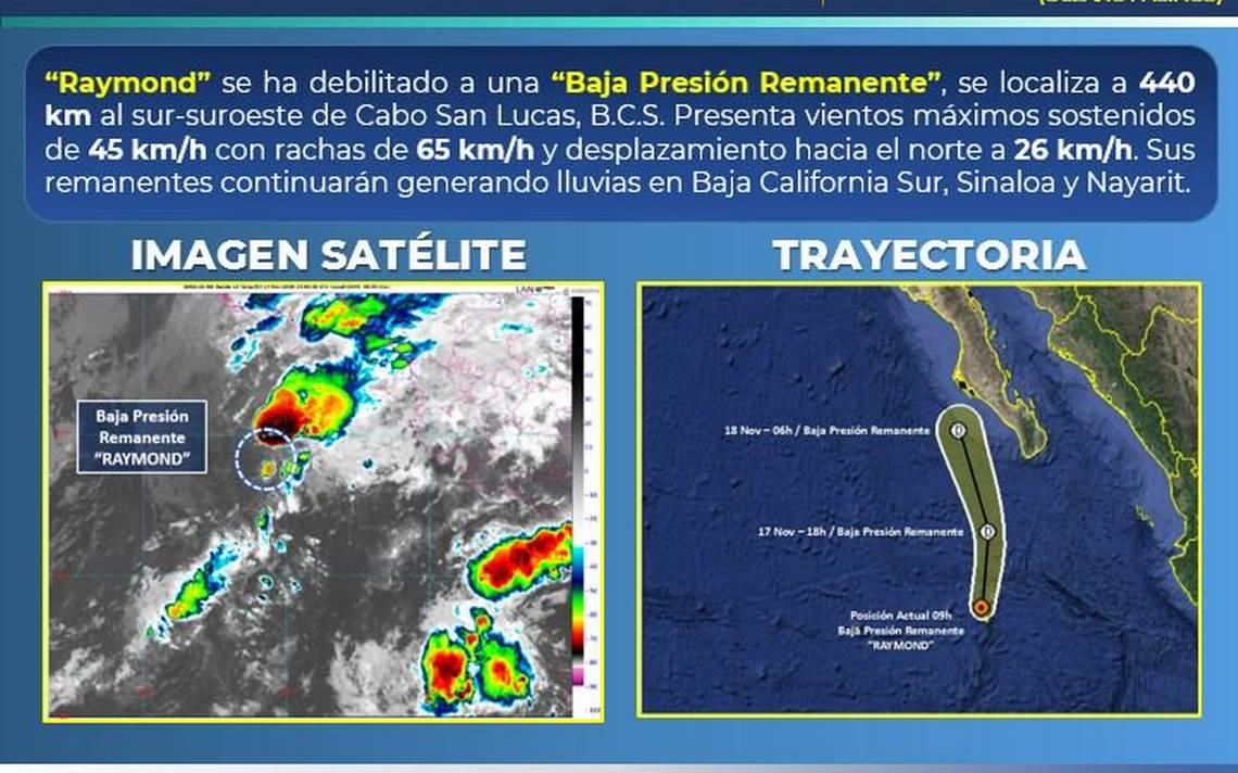 Raymond se degrada, pero se aproxima tormenta invernal - El Sol de Hermosillo