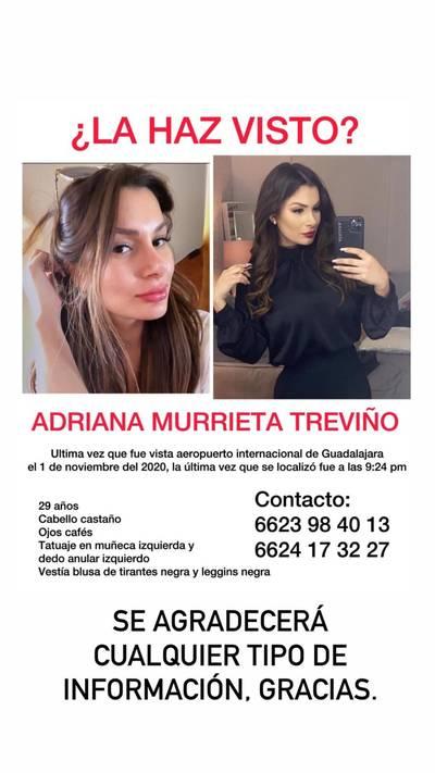 Localizan sin vida a la hermosillense Adriana Murrieta en Jalisco