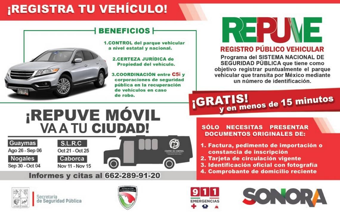 Instalará Ssp Módulo Itinerante De Repuve En Guaymas El